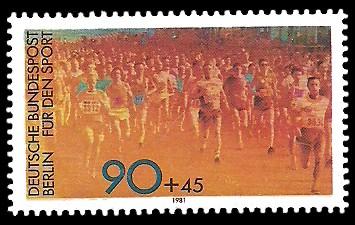 90 + 45 Pf Briefmarke: Für den Sport 1981