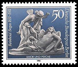 50 Pf Briefmarke: 150. Geburtstag Reinhold Begas