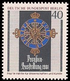 40 Pf Briefmarke: Preußen-Ausstellung 1981