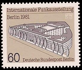60 Pf Briefmarke: Internationale Funkausstellung 1981