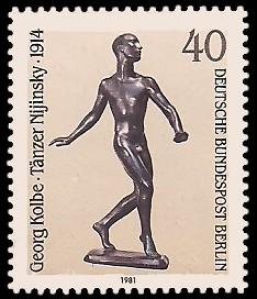 40 Pf Briefmarke: Skulpturen 1981
