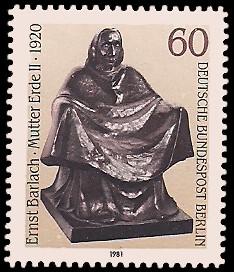 60 Pf Briefmarke: Skulpturen 1981