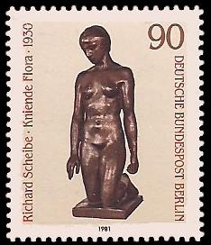 90 Pf Briefmarke: Skulpturen 1981
