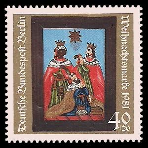 40 + 20 Pf Briefmarke: Weihnachtsmarke 1981