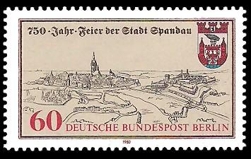 60 Pf Briefmarke: 750 Jahre Stadt Spandau