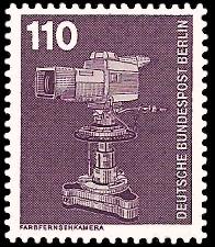 110 Pf Briefmarke: Industrie und Technik
