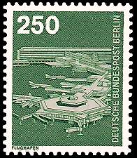 250 Pf Briefmarke: Industrie und Technik