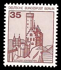 35 Pf Briefmarke: Burgen und Schlösser