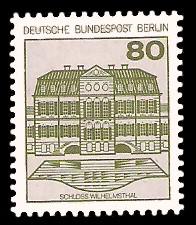 80 Pf Briefmarke: Burgen und Schlösser