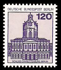 120 Pf Briefmarke: Burgen und Schlösser