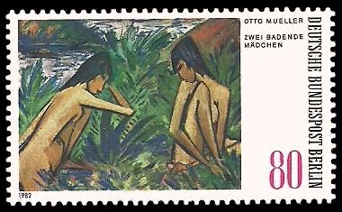 80 Pf Briefmarke: Moderne Gemälde