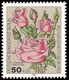 50 + 20 Pf Briefmarke: Wohlfahrtsmarke 1982, Rosen