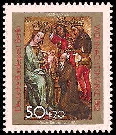 50 + 20 Pf Briefmarke: Weihnachtsmarke 1982