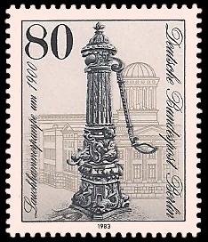 80 Pf Briefmarke: Historische Pumpen