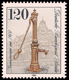 120 Pf Briefmarke: Historische Pumpen