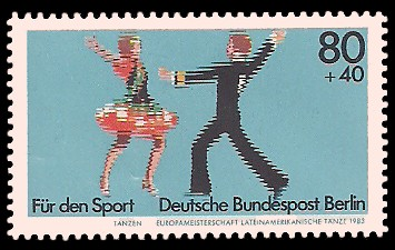 80 + 40 Pf Briefmarke: Für den Sport 1983