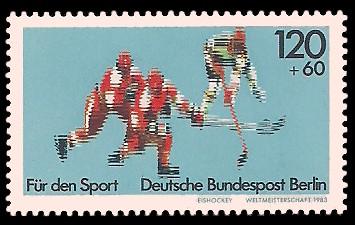 120 + 60 Pf Briefmarke: Für den Sport 1983