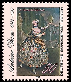 50 Pf Briefmarke: 300. Geburtstag Antoine Pesne