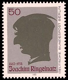 50 Pf Briefmarke: 100. Geburtstag Joachim Ringelnatz