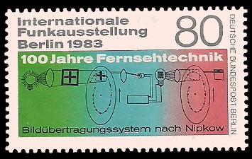 80 Pf Briefmarke: Internationale Funkausstellung 1983, IFA
