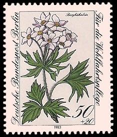 50 + 20 Pf Briefmarke: Wohlfahrtsmarke 1983, Alpenblumen