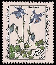 120 + 60 Pf Briefmarke: Wohlfahrtsmarke 1983, Alpenblumen
