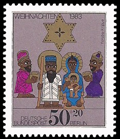 50 + 20 Pf Briefmarke: Weihnachtsmarke 1983