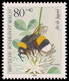 80 + 40 Pf Briefmarke: Für die Jugend 1984, Insekten