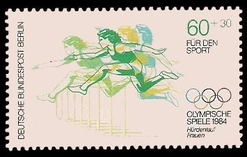 60 + 30 Pf Briefmarke: Für den Sport 1984