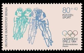 80 + 40 Pf Briefmarke: Für den Sport 1984