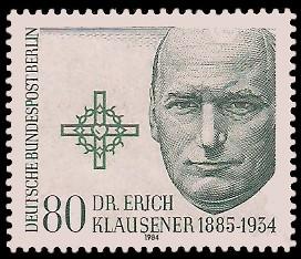 80 Pf Briefmarke: 50. Todestag Erich Klausener