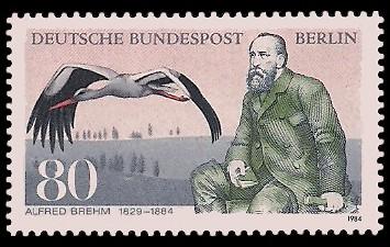 80 Pf Briefmarke: 100. Todestag Alfred Brehm