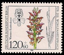 120 + 60 Pf Briefmarke: Wohlfahrtsmarke 1984, Orchideen
