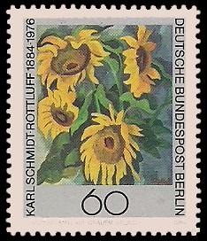 60 Pf Briefmarke: 100.Geburtstag Karl Schmidt-Rottluff