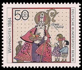 50 + 20 Pf Briefmarke: Weihnachtsmarke 1984