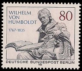 80 Pf Briefmarke: 150. Todestag Wilhelm von Humboldt