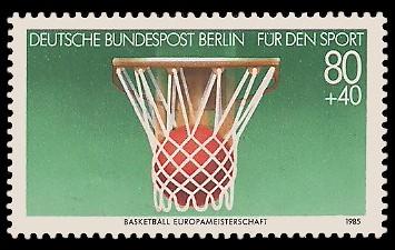 80 + 40 Pf Briefmarke: Für den Sport 1985