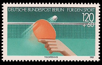 120 + 60 Pf Briefmarke: Für den Sport 1985