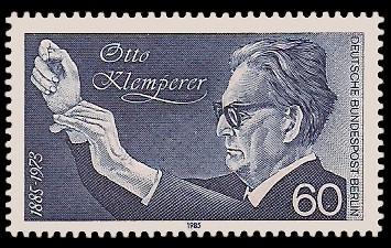 60 Pf Briefmarke: 100. Geburtstag Otto Klemperer