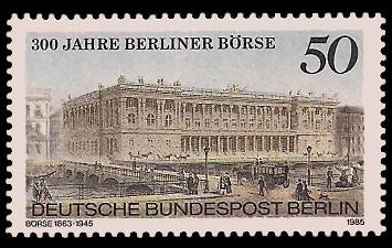 50 Pf Briefmarke: 300 Jahre Berliner Börse