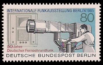 80 Pf Briefmarke: Internationale Funkausstellung 1985, IFA