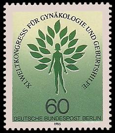 60 Pf Briefmarke: Weltkongress Gynäkologie und Geburtshilfe