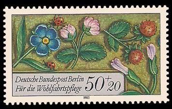 50 + 20 Pf Briefmarke: Wohlfahrtsmarke 1985, Miniaturen
