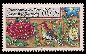 60 + 30 Pf Briefmarke: Wohlfahrtsmarke 1985, Miniaturen
