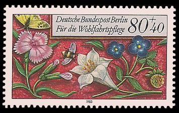 80 + 40 Pf Briefmarke: Wohlfahrtsmarke 1985, Miniaturen