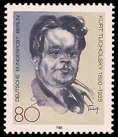 80 Pf Briefmarke: 50. Todestag Kurt Tucholsky