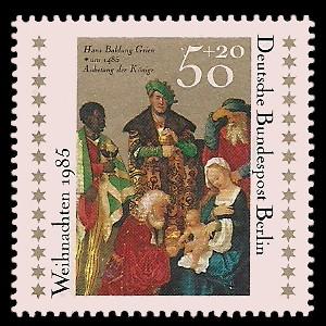 50 + 20 Pf Briefmarke: Weihnachtsmarke 1985
