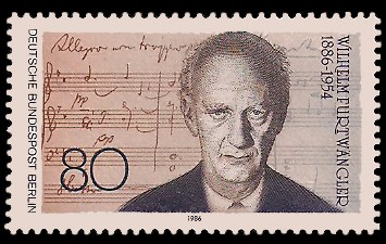 80 Pf Briefmarke: 100. Geburtstag Wilhelm Furtwängler