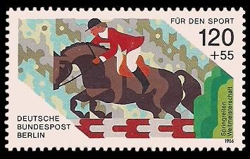 120 + 55 Pf Briefmarke: Für den Sport 1986