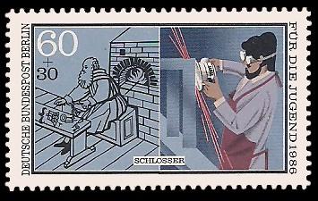 60 + 30 Pf Briefmarke: Für die Jugend 1986, Handwerker
